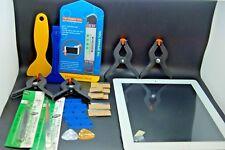 Conjunto de Digitalizador Ipad 2 blanco de repuesto y herramientas, botón de inicio & Adhesivo instalado