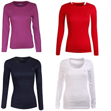 NWT Tommy Hilfiger Women's  T-Shirt Long Sleeve Solid Crewneck Tee