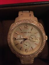 BEAUTIFUL oversized Michael Kors mother of pearl & ivory women's watch - MK5087