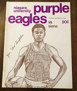 1976 Niagara University Basketball Program Niagara Falls Convention Center Siena