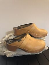 Svens Sweden Holie Orthopaedic Womans Leather Clogs Mules US Sz 10