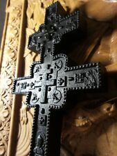 Wooden Carved Cross Bog Oak 5000years wood. Orthodox .Free shipping!