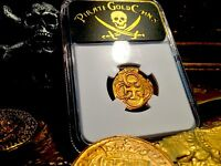 SPAIN  1622 DATED 2 ESCUDOS NGC 45  ATOCHA YEAR GOLD COB DOUBLOON TREASURE COIN
