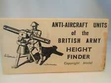Vintage 1950's Britains Anti-Aircraft Height Finder Toy Soldier Metal in Box