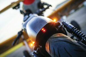 Kuryakyn Kellermann Atto Black Front Rear Amber Dark Lens Turn Signal Light Lamp