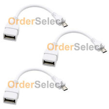 3 NEW USB Micro B to A Adapter OTG Cable Cord for Android Phone Google Nexus 7