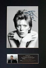 "#606 DAVID BOWIE ""STARMAN"" Reproduction Autograph Mounted Signed Photograph A4"