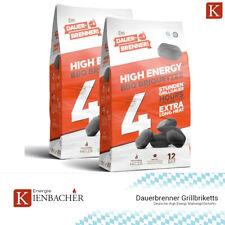 24kg Grillbriketts Dauerbrenner BBQ Premium Grillkohle Kohle Briketts 2x12kg