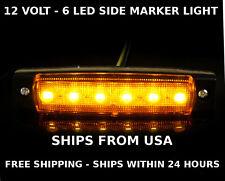 RV Motorhome Travel Cargo Teardrop Trailer Led Marker Light Amber Orange