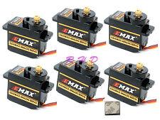 6x EMAX ES08MA II 12g/ 2.0kg Mini Metal Gear Servo high-speed Upgrade mg90 3M ta