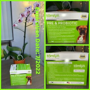 🐶Tomlyn Pre & Probiotic Powder Dogs 30ct EXP 7/ 22 Digestive Sys {Brand New}🐶