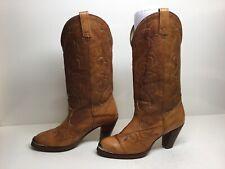 VTG WOMENS ACME TOE RAND COWBOY BROWN BOOTS SIZE 6 M,