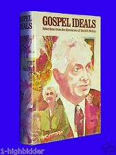 SIGNED 1976 Gospel Ideals David O McKay HCDJ Mormon LDS Signed by David L McKay