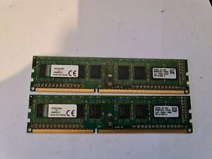 8GB ( 2 x 4GB ) PC3-12800 DDR3-1600 MHz NON ECC RAM KINGSTON KVR16N11S8H/4