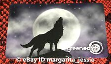 """GREEN EARTH CANADA GIFT CARD """"HOWLING NIGHT WOLF/FLYING CROW"""" NO VALUE NEW 2018"""
