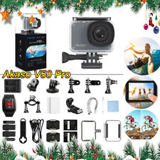 AKASO V50 Pro Adjustable View Angle 8X Action Camera with Helmet Accessories Kit