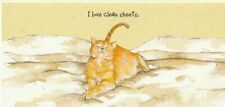 """СAT Folder card, 210x100mm. 2004 - """"CLEAN SHEETS"""" by Anna DANIELLE - Humor, CAT"""