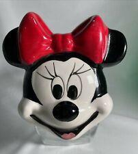 New listing Minnie Mouse Glass Candy Treat Jar Walt Disney Co Anchor Hocking