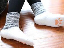 1Pr Cat Claw Floor Socks Girls Japanese Antiskid Kids Winter Warm Room Socks