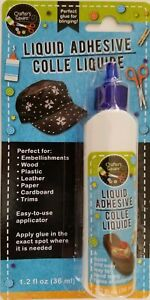 Water Resistant Liquid Adhesive for Bling Fabric Leather Paper Plastic Wood