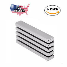 5x N52 Big Block Bar Fridge 60 x10 x 3mm Magnet Strong Rare Earth Neodymium US