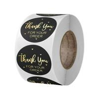 500x Thank You for Your Order Stickers Gold Foil Seal Label for Small Shop Best