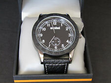 Unlisted by Kenneth Cole Mens Black Leather Band Sport Watch UL 0599