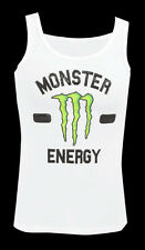 MONSTER ENERGY WOMENS WHITE COLLEGE TANK TOP LARGE (L)