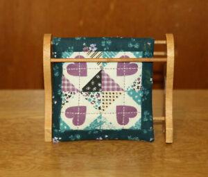 Dollshouse Miniature pieces - towel rail with handmade quilt