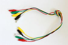40cm Crocodile Test Lead Set 5 Leads 5 Colours #2