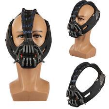 Máscara de látex de utilería Bane Actualizar Versión Mejorada Adultos Casco Caballero Oscuro Asciende