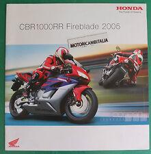 HONDA MOTO  CBR1000 RR 2005 FIREBLADE ADVERTISING PUBBLICITA DEPLIANT BROCHURE