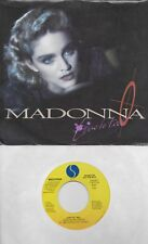 MADONNA  Live To Tell  rare promo 45 with PicSleeve