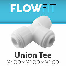 """Express Water Union Tee 1/4"""" Quick Connect QC RO System Parts Fittings, BPA Free"""