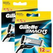 100% Genuine Gillette Mach 3 Razor 12 Blades in Pack