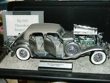 Franklin Mint 1:24 1933 Diecast Duesenberg 20 Grand Sj Car in Display Case & Coa