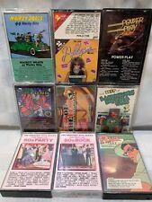 Best of 50's Rock Disco Funk Wacky Hits Power Play Rare Trax (9 Cassette Lot)