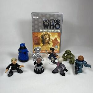 """BBC Worldwide Limited Terry Nation Dr Who Various 2.5"""" Figures & DVD Bundle Lot"""