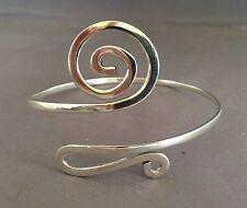 Stunning Swirl Upper arm band cuff Genuine .925 stamped sterling silver bracelet