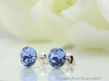 925 STERLING SILVER STUDS 8mm XIRIUS CHATON CRYSTALS FROM SWAROVSKI®