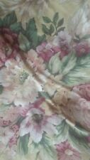 CROSCILL PAVILION YELLOW, ROSE, GREEN FLORAL & PLAID FULL SZE 6 PC COMFORTER SET
