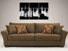 """Roto teclas del piano 35 """"X25"""" Azulejo Mosaico Pared Poster Keyboard Music"""