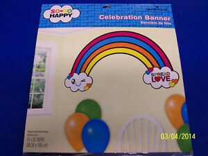 So So Happy Be Lucky Spread Love Live Birthday Party Decoration Rainbow Banner