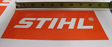 "NEW STIHL SLANT LOGO DECAL 4"" x 8"" CHAINSAW TRIMMER BLOWER STICKER"