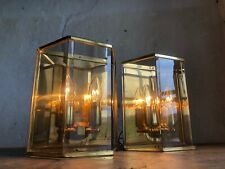 Pair of 1970s HOLTKOETTER Smoked Glass Wall Lights / Sconces