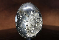 Great Quality Pyrite Egg 100s Facets Vugs Crystal Mineral Faces See Below A41