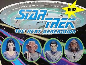 1992 Loose Figures, Bases & Accessories Star Trek Next Generation Playmates