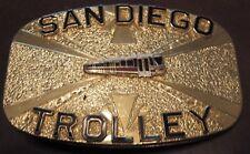 Vintage San Diego Trolley Cable Car Belt Buckle - San Diego, CA California