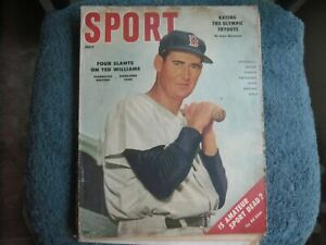 7/56 SPORT MAGAZINE WITH TED WILLIAMS BOSTON RED SOX  GROBEE1957