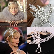 beaGreat Gatsby Crowns Daisy 1920s Flapper Retro Headpiece Silver Ivory Headband